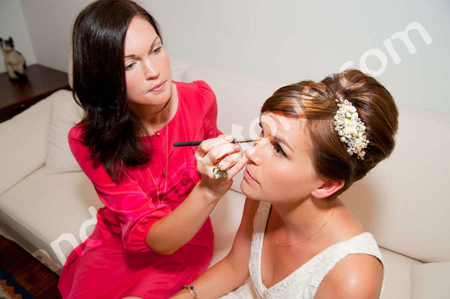 Bride make-up session just before the wedding