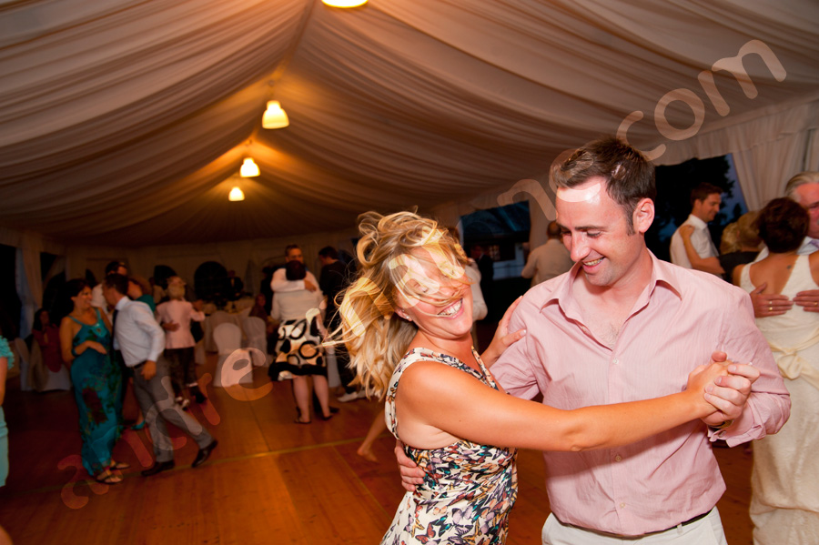 Having fun dancing at a wedding
