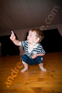 Child dancing at a wedding party