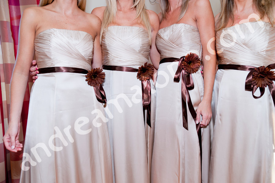 Wedding bridesmaids dress close-up