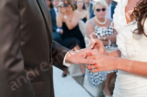 Wedding ring exchange in Tuscany Italy