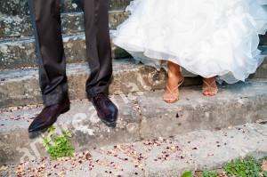 Newlyweds Italian shoes