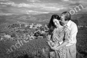 Black and white photography in Tuscany Greve in Chianti
