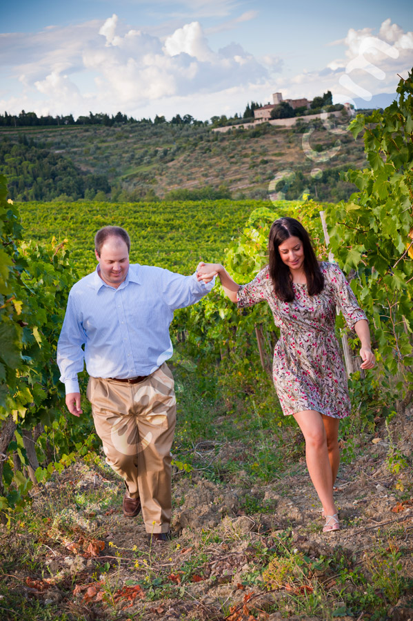 An engagement session in Tuscany