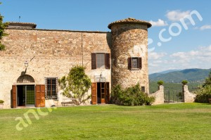 The castle where the wedding blessing took place Italy.
