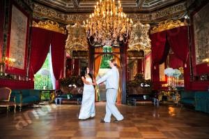 Wedding reception dancing at Palazzo Brancaccio Rome Italy