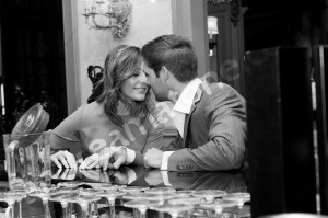 Intimate talking on black and white photography