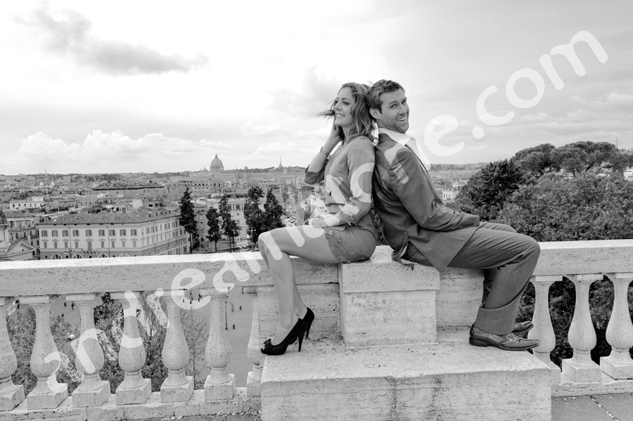 Black and white images of an e-session.