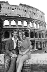 The Roman Coliseum in Rome Italy in beautiful b&w photography