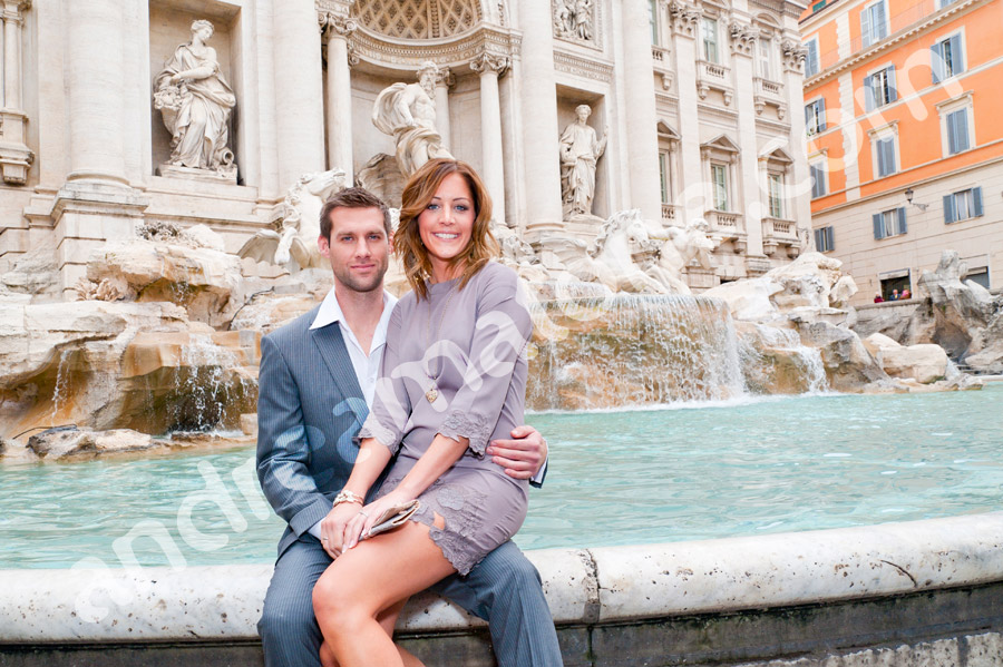 Trevi Fountain. Engagement style session.