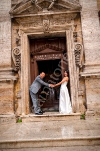 Holding hands during a photo shoot in Rome