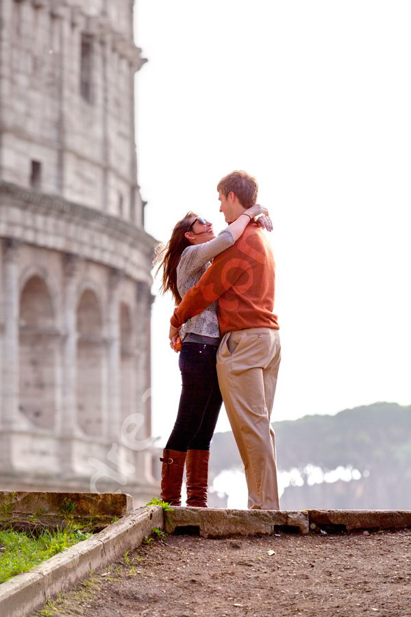 Engagement picture session at the Colosseum