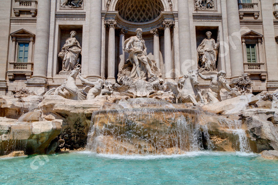 Fontana di Trevi. Place of interest. Landmark monument.