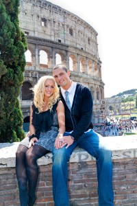 Portrait photography at the Roman Coliseum in Rome Italy