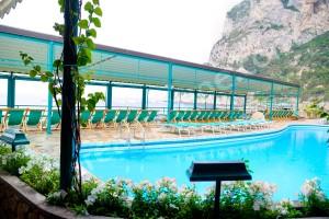 The pool at Canzone del Mare in Capri Italy