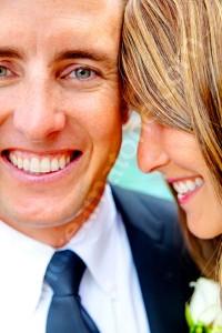 Happiness groom bride portrait