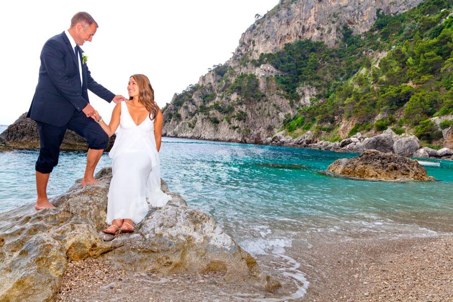 The Scoglio delle Sirene beach by Marina piccola