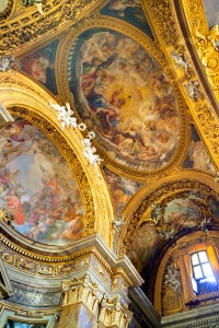 Interior Church of San Silvestro in Capite artistic decorations and frescoes