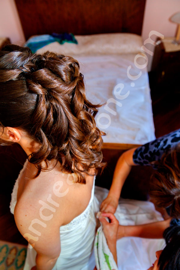 The bride hairdo from above