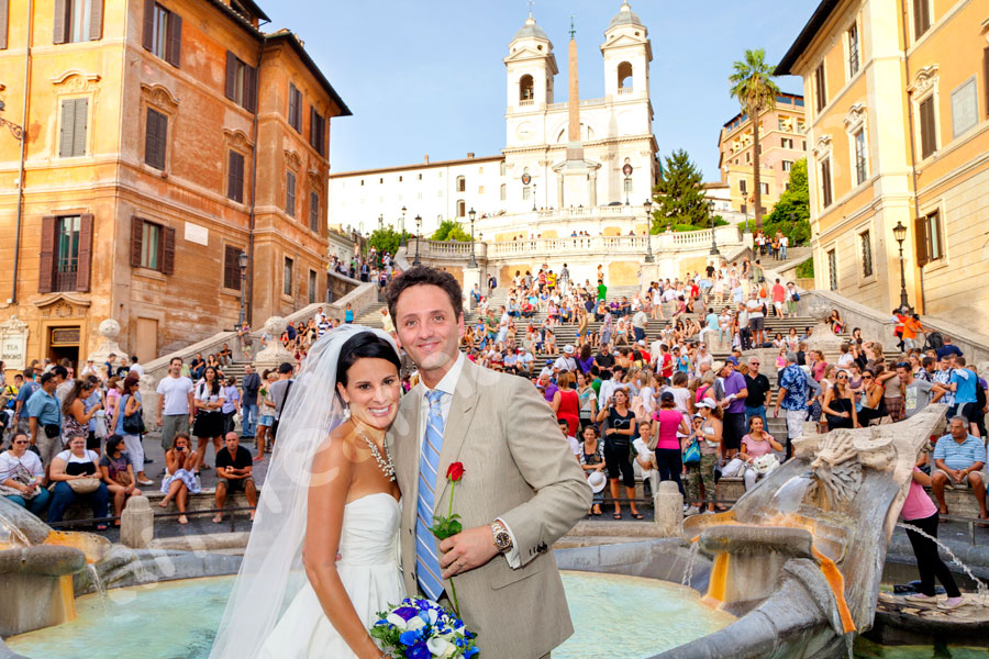Piazza di Spagna Photograph Spanish steps by the water Fountain