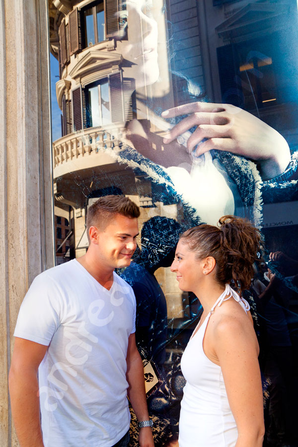 Via del Corso background image used for an engagement session