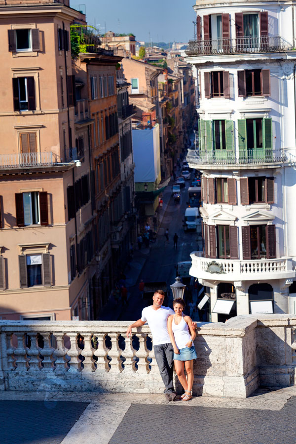 Relaxing on the Spanish steps soaking in some nice sunlight