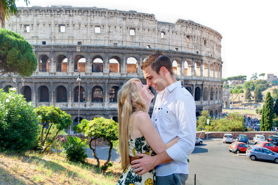 In love in Rome during a honeymoon
