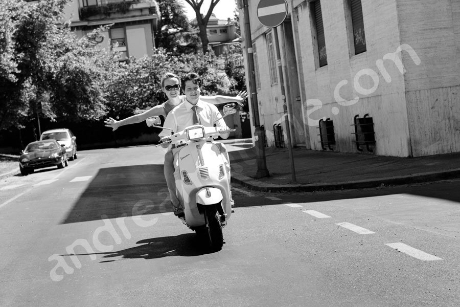 Riding a vespa scooter Vacanze Romane film Roman Holiday