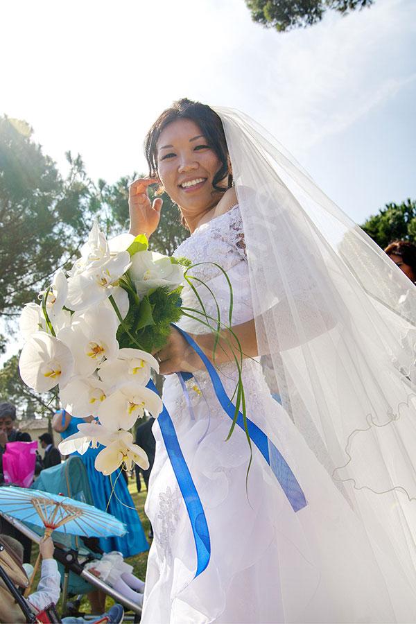 The bride under the sun