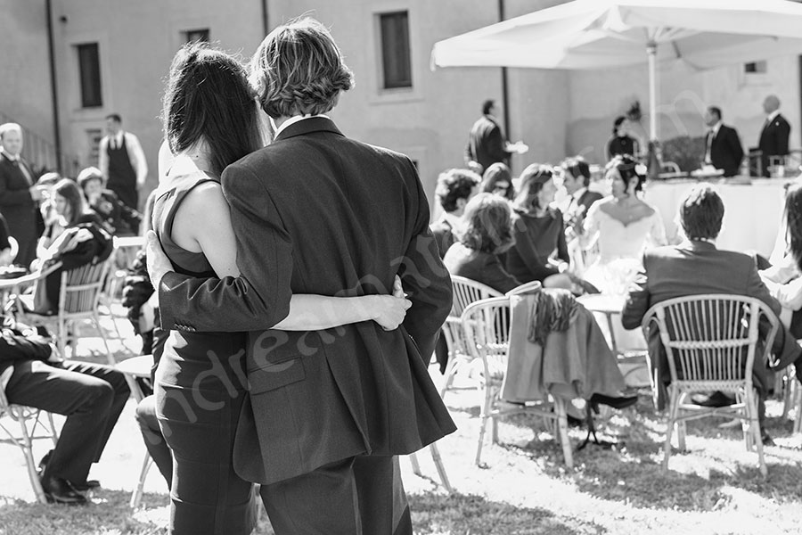 Guests relaxing after the ceremony in Italy