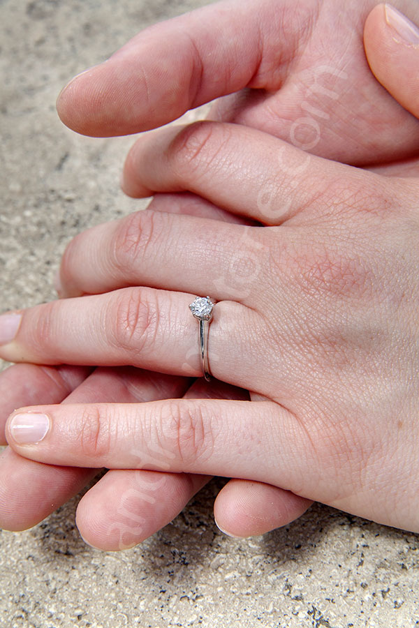 The engagement ring.