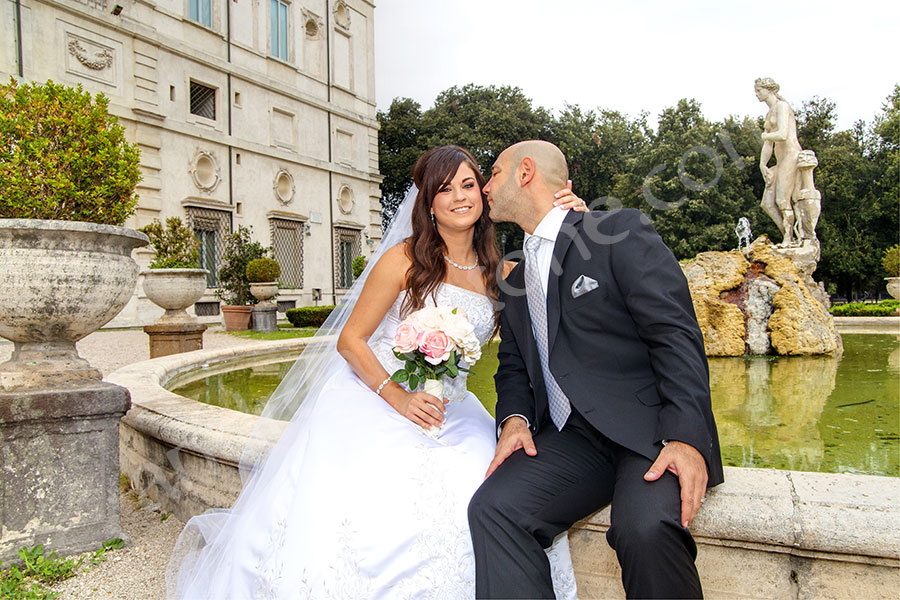 Back garden. Parco Galleria Borghese. Matrimonial picture location.