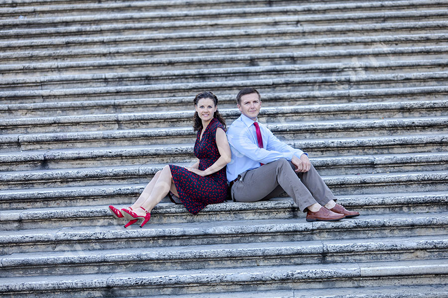 Portrait shoot on the steps of Piazza di Spagna