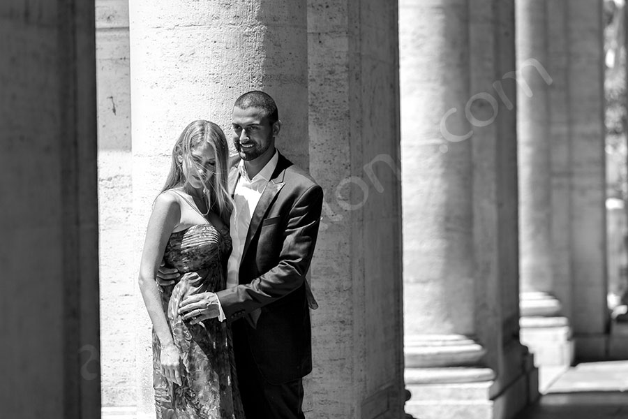 Black and White image taken in Campidoglio plaza.
