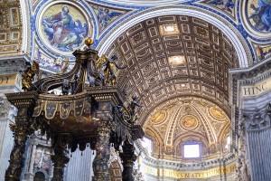 Architecture interior Saint Peter's Basilica Rome Italy