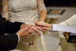 Union of hands during wedding vows renewal in Rome