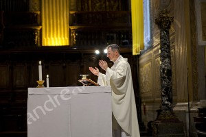 Priest celebrating Church wedding in Rome