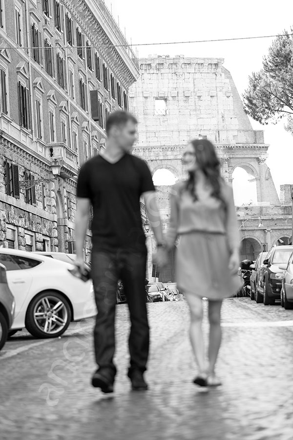 Out of focus picture while walking together in the streets.