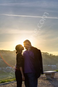 Engagement photo session in Rome Italy after the wedding proposal photographed