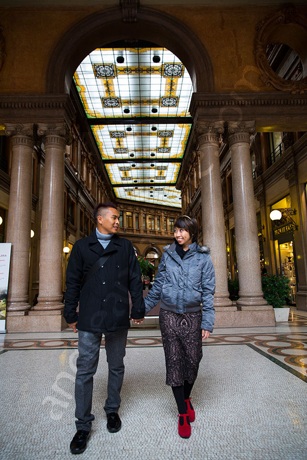 Couple walking hand in hand Galleria Alberto Sordi