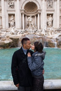 Photo tour at the Trevi fountain in Rome Italy