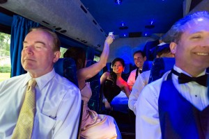 Wedding party bus transfer from Rome to Castle Odescalchi in Italy