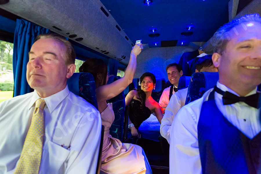Matrimonial party bus transfer to Castle Odescalchi