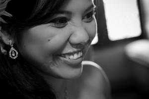 Portrait photography bride in black and white