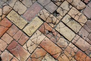 The ground pavement of Castello Odescalchi Italy
