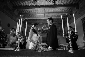 The wedding hall Castello Odescalchi during a civil ceremony