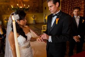 The wedding rings exchange
