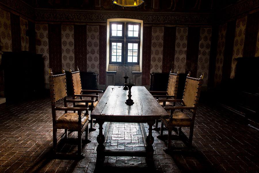 Interior detail Odescalchi castle Italy