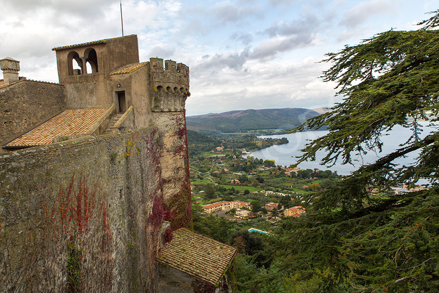 The view from outside castle Odescalchi in Italy