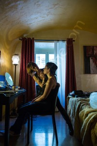 Wedding makeup and hairstyle session photographed in Rome Italy
